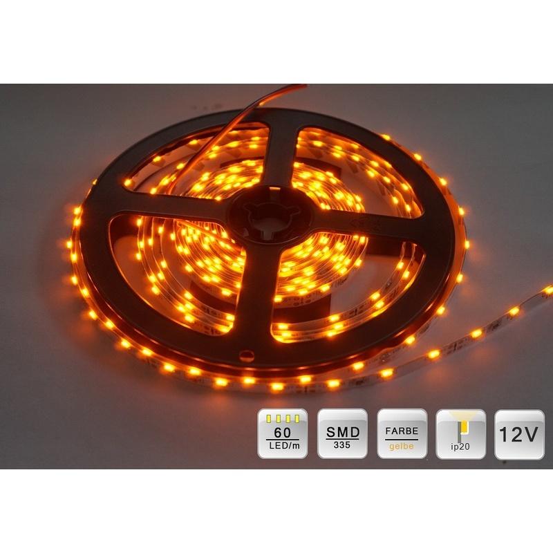 LED SMD 335 Streifen 5m. 60 LEDs/m Gelbe ca.400 Lumen