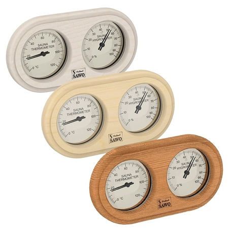 SAWO BOX TYPE ROUNDED THERMO - HYGROMETER
