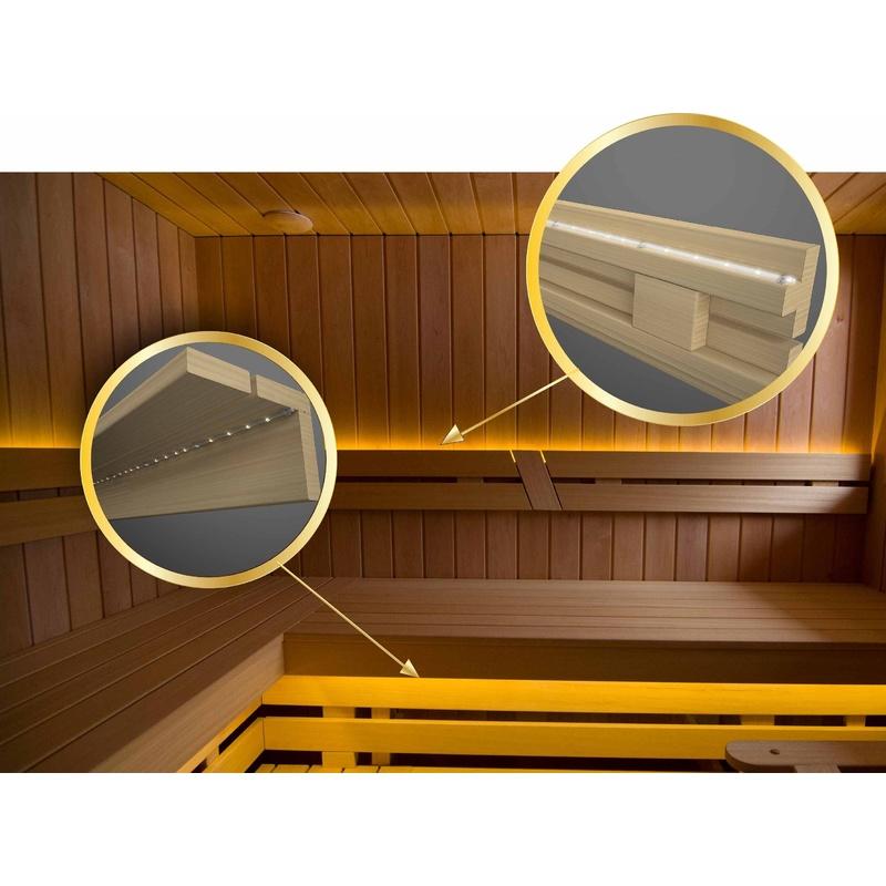 Set Saunabeleuchtung, LED-Streifen 5m. wasserdicht ip68