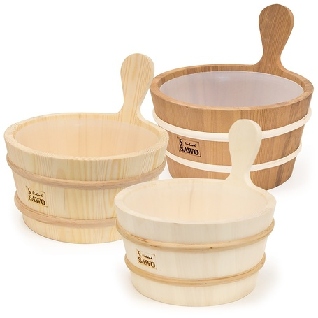 SAWO WOODEN PAIL WITH PLASTIC INSERT