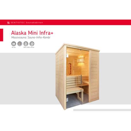 Saunakabine Alaska Mini Infra+ 160x110x204 Cm - 3,799.00