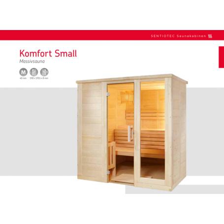 Saunakabine Komfort Small 208x158x204 Cm - 3,396.19