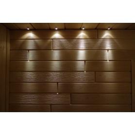 LED ÉCLAIRAGE SAUNA SUN Modèle: Blanc chaud, Matériel: Argent